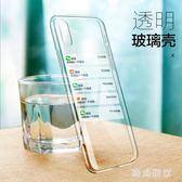 iphonex手機殼 新款硅膠透明玻璃殼防摔超薄 ZB822『時尚玩家』