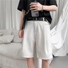 五分褲 夏季薄款純色小西短褲潮流百搭寬鬆直筒五分褲潮牌ins休閒褲男士 VK2291