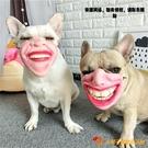 寵物狗狗嘴套防咬搞怪面具搞笑口罩惡搞大笑嘴唇【小獅子】
