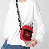 潮流刺繡字母復古街頭串標織帶單肩斜背包男女款小包 晴天時尚館