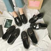 英倫風chic小皮鞋女夏季韓版風復古百搭單鞋 港仔會社