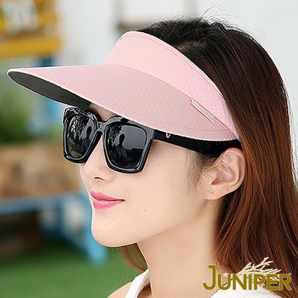防曬帽子-戶外休閒高爾夫球網球鴨舌帽髮夾空心遮陽帽J7535 JUNIPER