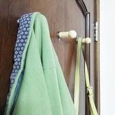 創意壁掛裝飾掛鉤無痕粘貼實木掛鉤 免打孔釘臥室門后衣帽架鉤子