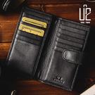 【U2】極簡黑頭層牛皮多卡層真皮信用卡/名片夾/MIT/台灣製_F-573