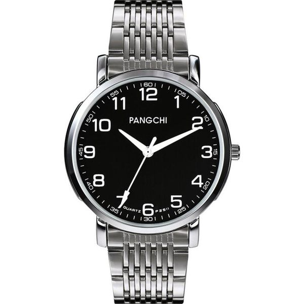 中老年手錶男款老人手錶男士手錶石英錶老年人手錶女款大數字防水