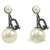 茱麗葉精品【全新現貨】Christian Dior MY ABCDIOR系列字母Q造型耳環.黑