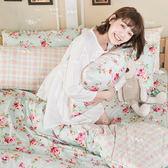 床包 / 雙人【玫瑰粉格】含兩件枕套  100%精梳棉  戀家小舖台灣製AAS201