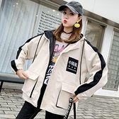 工裝短款外套女春秋新款潮學生韓版原宿bf寬鬆休閒夾克棒球服