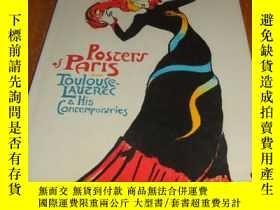 二手書博民逛書店2手英文Posters罕見Toulouse-Lautrec 羅特
