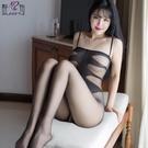性感開檔誘惑吊帶連體情趣絲襪開襠日系超薄...