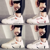 小白鞋 新款冬季男鞋潮流小白板鞋男士百搭潮鞋加絨保暖休閒韓版運動-樂購旗艦店