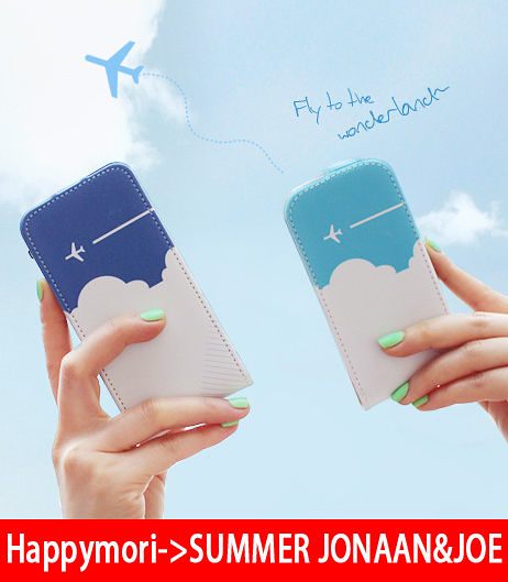 【韓國原裝 Happymori】※plane.s fly wing※直掀式手機皮套適用iphone4s/4 Galaxy S2 i9100