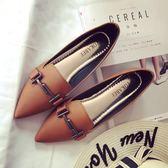 新款女鞋正韓大碼春季單鞋女平底鞋平跟尖頭鞋四季鞋淺口百搭禮物限時八九折