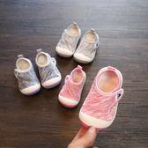 春秋季寶寶鞋子1-3歲防滑女公主鞋男童透氣布單鞋2嬰兒學步鞋軟底 免運