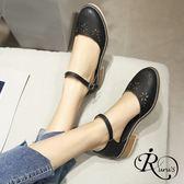 韓系復古甜美透氣簍空裝飾圓頭低跟涼鞋/3色/35-42碼 (RX0260-H300-15) iRurus 路絲時尚