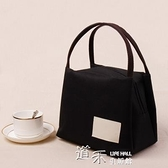 日本帆布手提包便當包保溫飯盒袋女牛津布媽咪包飯盒包手提袋防水  【全館免運】