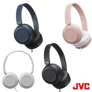 【送收納袋】JVC HA-S31M 藍色 輕量立體聲耳罩式耳機 附麥克風