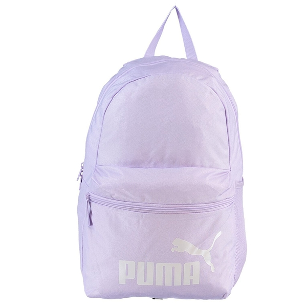 PUMA Phase 背包 後背包 拉鍊前袋 水壺袋 紫【運動世界】07548756
