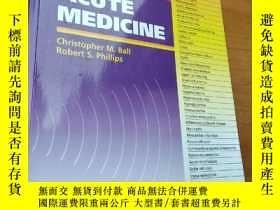 二手書博民逛書店Acute罕見Medicine - Evidence - Bas