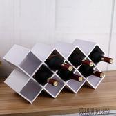 木質紅酒架擺件 創意 現代簡約 家用葡萄酒架置物架歐式【潮咖地帶】