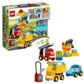 樂高積木樂高得寶系列10816我的一組汽車與卡車套裝LEGO大顆粒積木玩具 聖誕交換禮物xw