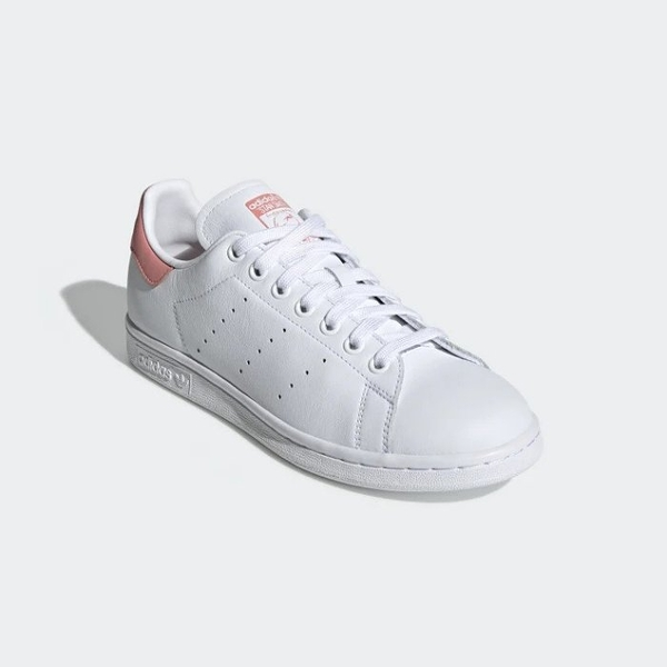 ISNEAKERS Adidas Stan Smith 女鞋 白 粉 史密斯 皮革 滑板鞋 休閒鞋 EF9319