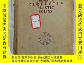二手書博民逛書店theory罕見of perfectly plastic sol