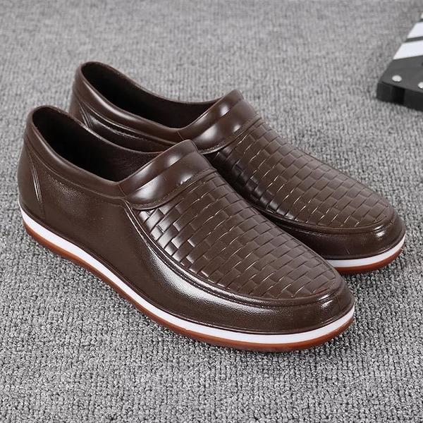 工作鞋 防滑男士低幫雨鞋男耐磨牛筋底雨靴防水透氣工作水鞋男廚師橡膠鞋 城市科技