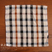 【京之物語】日本製DAKS經典大方格紋純綿方毛巾-粉色/褐色