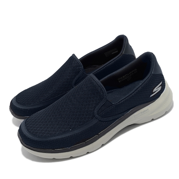 SKECHERS GO WALK 6 藍 男 機能 穩定 支撐 運動 健走鞋 216200NVY