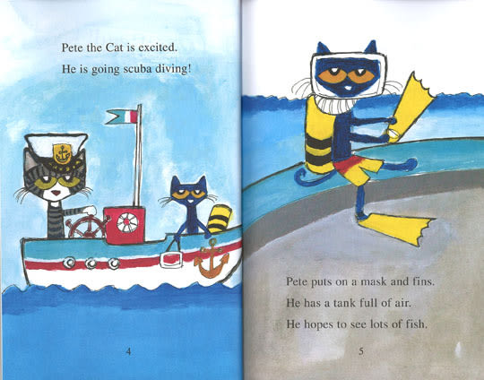 (An I Can Read系列  My First )  PETE THE CAT: SCUBA-CAT /讀本