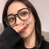 眼鏡原宿透明黑方框女復古簡約平光鏡鏡鏡眼鏡框架【販衣小築】