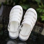包頭涼鞋女夏防滑軟底護士白色洞洞鞋鏤空透氣韓版少女學生拖鞋  艾尚旗艦店