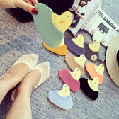 ZUCAS -甜美簡約馬卡龍糖果色隱形短襪防滑超薄春夏淺口船襪短襪子(FF-546)
