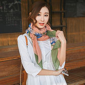 圍巾 花朵 愛心 印花 棉麻 披肩 圍巾【Fzr1102】 ENTER  10/19