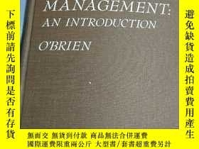 二手書博民逛書店COMPUTERS罕見IN BUSINESS MANAGEMENT:AN INTRODUCTION(企業管理中的計