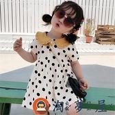 女童連身裙子女寶寶圓點娃娃領連身裙潮流公主裙夏裝【淘夢屋】