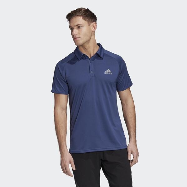 Adidas Club 男裝 短袖 POLO衫 休閒 網球 吸濕排汗 乾爽 拉克蘭袖 藍【運動世界】FU0919