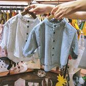 韓版秋裝1兒童2小童純棉長袖襯衫3男童4嬰兒寶寶打底5女童上衣6歲