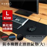 防水橡膠止滑鎖邊競技滑鼠墊L-黑紅藍 30*80*0.3cm加厚版-時光寶盒5023