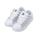 FILA 印花壓紋休閒板鞋 白藍 4-C908T-123 女鞋