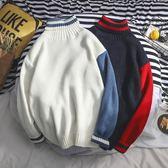針織衫 日韓初中半高領毛衣男中領青少年學生帥氣潮流個性 森雅誠品