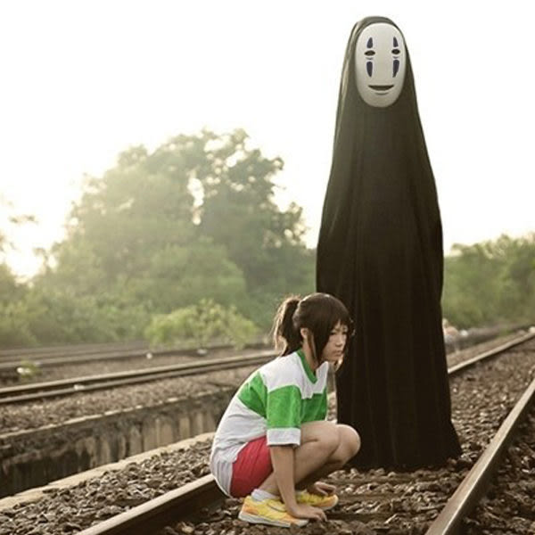 SISI【A7005】神隱少女無臉男cos套服cosplay同人誌服無臉男萬聖節變裝服