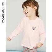 maxwin童裝女童小童長袖t恤2019新款春秋純棉針織衫兒童上衣秋裝Mandyc