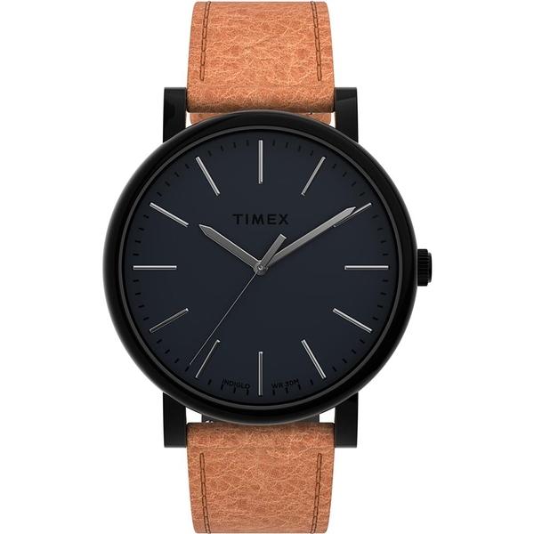 【TIMEX】天美時 復刻系列 簡約手錶 ( 黑/橘 TXTW2U05800)