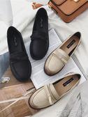 樂福鞋 新款英倫復古風低跟小皮鞋蝴蝶結樂福鞋女平底粗跟學生單鞋女 唯伊時尚
