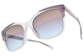 EMPORIO ARMANI 太陽眼鏡 EA4119F 5700-48 (透紫白-漸層紫藍鏡片) 時尚叛逆款 # 金橘眼鏡