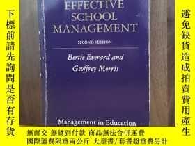 二手書博民逛書店Effective罕見School ManagementY128
