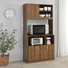 櫥櫃 廚房櫃 收納【收納屋】蓋亞高廚房櫃-質感棕 &DIY組合傢俱