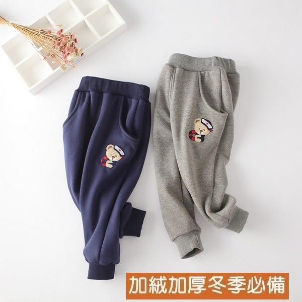 兒童刷毛長褲 寶寶運動保暖棉褲 中大童童裝 XR172229 好娃娃